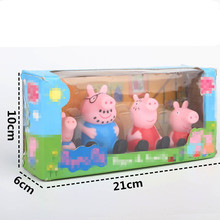 4pcs/set scream Pepa Pig PVC Toys Pepa George Pig Family 2017 Action Figure Toys For Kids Girls Baby Birthday model builiding