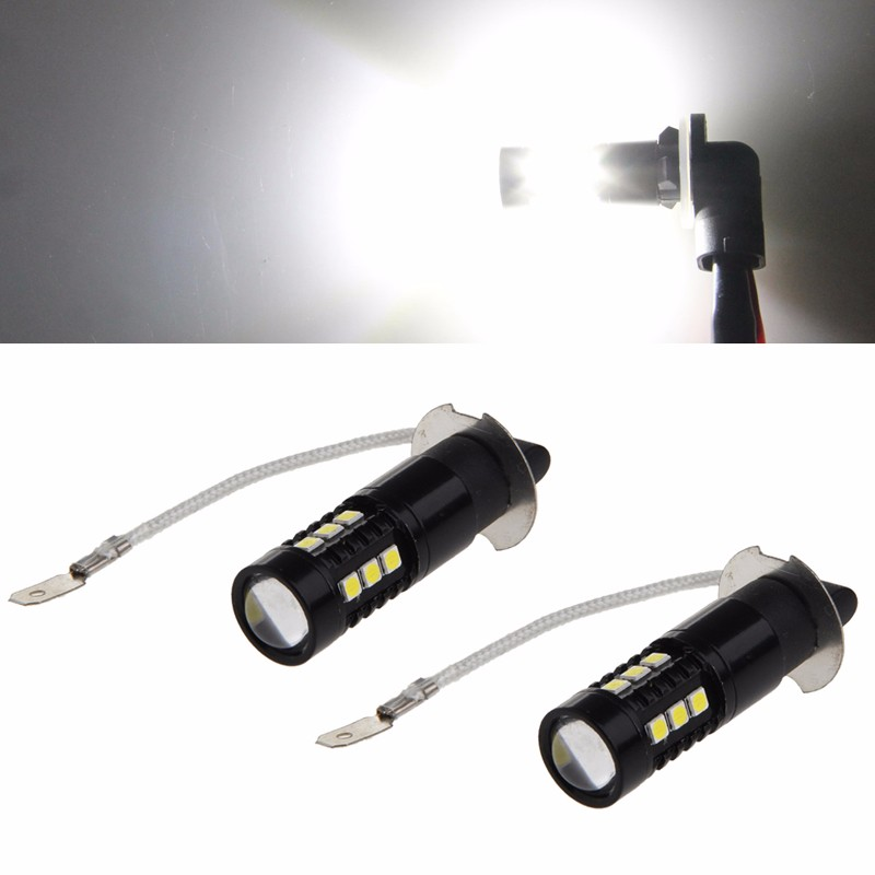 1 Pair 50W H3 3030 15 LED 6000K White LED Fog Lights Bulb Super Bright DC 12V External Lights<br><br>Aliexpress