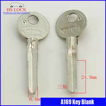 Big pian three jiao door Key blank Locksmith Supplies Blank Keys cilvil Horizontal key machine A169