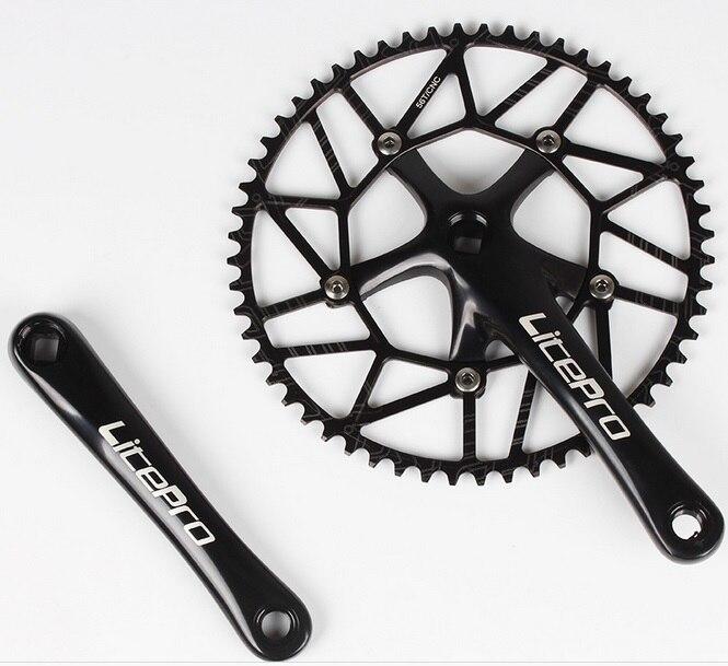 Litepro bicycle  Road Folding Bike Bicycle CNC Hollow Single Chain Wheel Chainring Crankset Crank 50/52/54/56/58T BCD130 170mm<br>