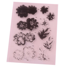 CCINEE 1PCS Flower Style Clear Stamp DIY Silicone Seals Scrapbooking/Card Making/Photo Album Decoration Supplies(China)