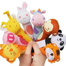Baby Plush Toys Sound  baby Rattle Toy  Handbells baby  Mobiles Stuffed Hand Puppet rattle toys for Newborn           TO39