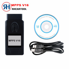 Free Shipping New MPPS V16 Auto ECU Chip Tuning Interface Multi-Language OBD OBDII Read&Write ECU Flasher For RDC15 EDC16 EDC17