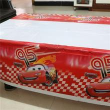 Hot Sale Cartoon Cars Plastic Tablecloth for Cartoon kids happy birthday party plastic tablecover supplies disposable 180*108cm