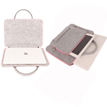 AIBOULLY 2 in 1 WoolFelt Laptop Bag For Mac 11 13 15 Mouse Bag for Macbook Air Pro Retina For Lenovo Notebook Sleeve Carry Bag