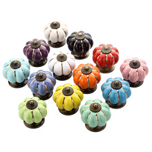 Pumpkin Knob Drawer Pulls Handle Colorful Cupboard Knobs Kitchen Cabinet Handle Furniture Hardware