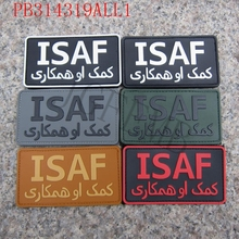 ISAF International Security Assistance Force Military Tactical Morale 3D PVC patch