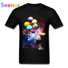 t-shirts Men 3D Print Spaceman Side Job T-shirt Blank Unique Casual Mens T shirt Camisetas(China)