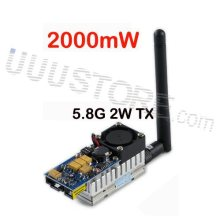 Boscam 5.8GHz 2000mw 5.8G 2W 8 Channel Wireless Audio Video Transmitter Sender FPV DJI phantom Gopro hero4 SJ4000