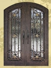 Custom design Wrought Iron Entry  Double Doors Wrought Iron Entry Doors id-58