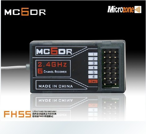 MC6OR Microzone 2.4Ghz 6 channel RC receiver 6CH radios control receiver for RC airplane/helicopter/multicopter/quadcopter<br><br>Aliexpress
