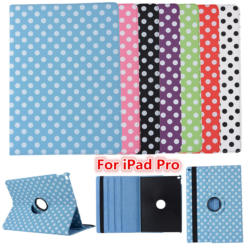 Dot Tablet Case For iPad Pro 12.9 Case 360 Rotation PU Leather Case for Apple Smart For iPad Pro Flip Cover with Stand Function<br><br>Aliexpress