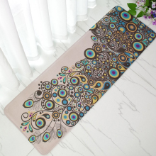 40*120cm Bedside Sofa Coffee Table Long Peacock Door Mat Carpet Kitchen Oil Absorption Dirt Floor Mat Free Shipping