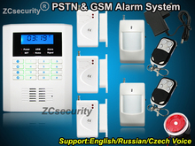 Russian and  English Spanish Czech voice PSTN GSM Wireless & wired Smart Home Alarm GSM Alarm System