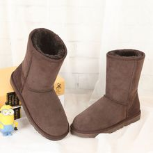 2017 new snow boots 100% Australian natural sheepskin boots female fashion casual boots really free shipping(China)
