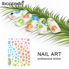 1 Sheet Nail Water Decals Transfer Stickers Flowers Pattern Nail Art Sticker Tattoo French Nail Tips for Manicure Gel Polish(China)