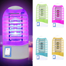 Random Color Electric Mosquito Killer Energy Saving Multi-Colored Mosquito Dispeller With LED Light E2shopping