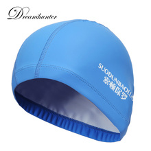 Pro 12 Colors Waterproof Swimming Caps Women Men Elastic Hair Ears PU Protectors Swim Pool Hats Caps Badmuts