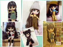factory blyth Doll bjd neo 300BL9219 Joint body matte frosted face With Bangs/fringes Dark purple hair 1/6 30cm gift toy