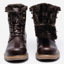 37~49 men winter boots plus size top quality cow split motorcycle retro leather boots #LS008
