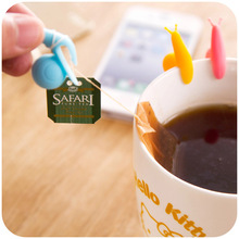 Cute Snail Wineglass Label For Tea Bag Hanging Mug Cup Clip Tea Infuser Party Supplies Novelty Product