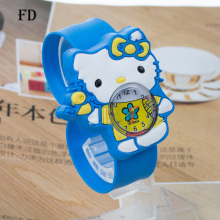 FD hello kitty Rubber Strap Children Sports Watch 3D Cartoon Pattern Casual Girl Kids Quartz Wristwatch 2017 Hot Cute baby Clock