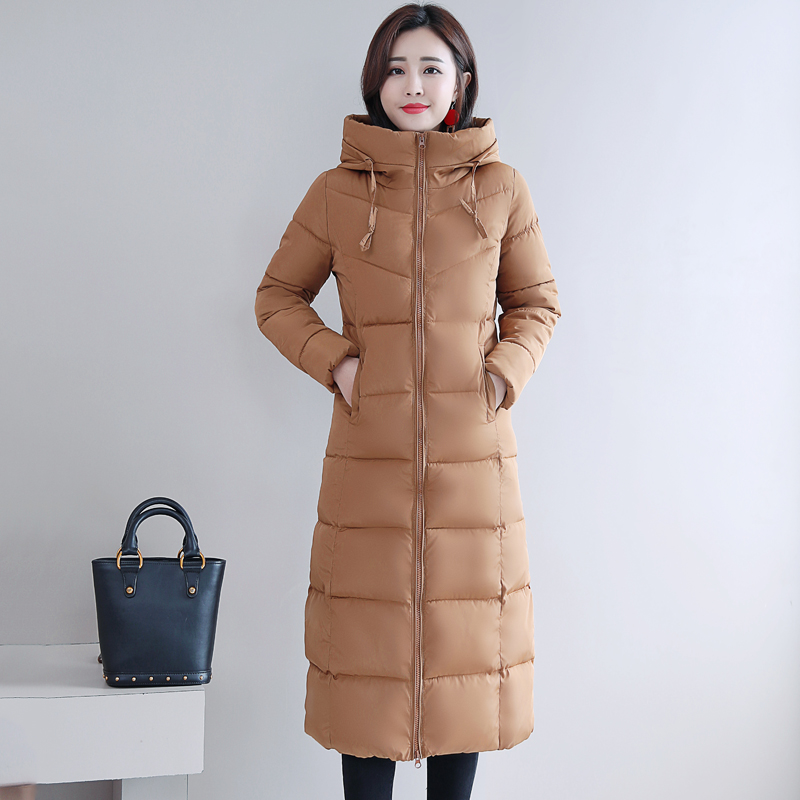 Plus Size 4XL 5XL 6XL womens Winter Jackets Hooded Stand Collar Cotton Padded Female Coat Winter Women Long Parka Warm Thicken 25