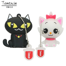 100% Real Capacity Pen Drive Cartoon Black Cat PenDriver 8GB 16GB 32GB USB Flash Drive Memory Stick PenDrive USB Drive