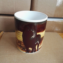 11OZ Magic Ceramic Mug Heat Sensitive Color Change Coffee Tea Mug Cup Printing with Black Lion picture