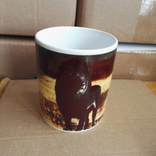 11OZ Magic Ceramic Mug Heat Sensitive Color Change Coffee Tea Mug Cup Printing with Black Lion picture(China)