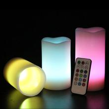 3pcs/Set Vanilla Scented Color-Changing Led Flameless Tealight Candles Electric LED Candle18-Key Remote Control(China)