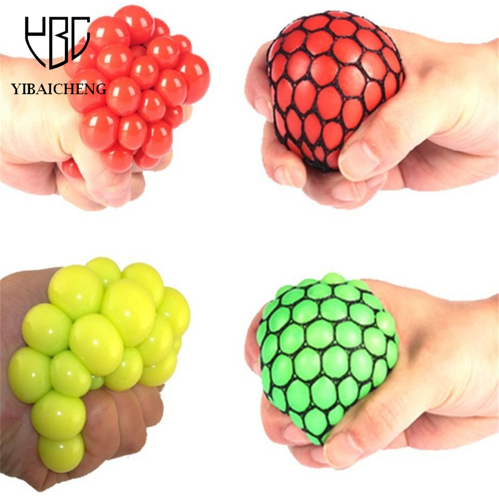 Funny Toy Anti Stress Reliever Grape Ball Creative Water Polo Joke abreact Extrusion Relief Healthy Funny Trick Latex Fool'sDay(China)