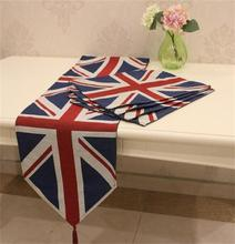 free shipping  Hot Sale american style Home Wedding Decoration Cotton / Canvas Table Runner Deep Coffee Tablecloth Bed Flag