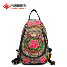 students backpacks new travel backpack national embroidery canvas bag support distribution China designer high quality famous