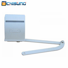 Curve arm gate opener external automatic opening system with articulated arms for hinged gated