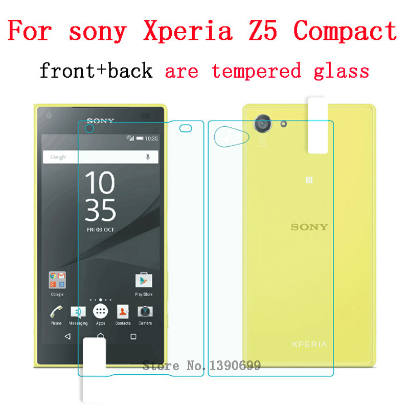 Front Back Tempered Glass Sony Xperia Z5 Compact Mini Screen Protector Explosion-Proof Film Xperia Z5mini E5803 E5823