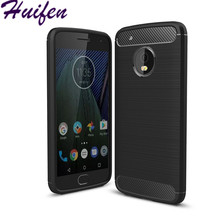 Latest for Motorola moto G5 plus caus slim Hybrid Super armor Carbon Fiber Texture Brushed soft tpu Silicone Cover case (L92)