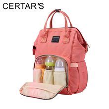 CERTAR'S Baby Diaper Bag Maternity Nappy Bags Travel Backpack Large Capacity Baby Changing Bag Mother Nursing Wet Bags Organizer(China)