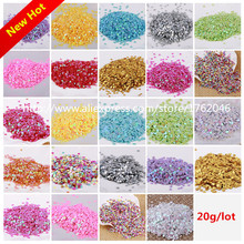 Free shipping 20g 3mm star/Love Heart sequin PVC loose Sequins Paillettes for Nail Art manicure/sewing/wedding decora confetti