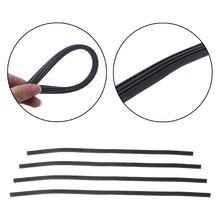 "Universal 6mm Refill Rubber Frameless Wiper Blade Replace Black 18"" 22"" 24"" 28"" cars buses vans lorries trucks Windscreen Wipers"