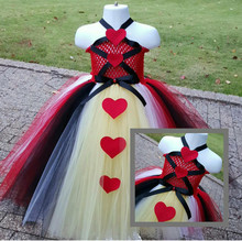 Black & Red Hearts Gown With Collar inspired Queen of Hearts Tutu Dress- Heart Dress- Tea party- school book week Costume