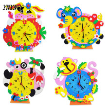 YNYNOO Sent Random EVA Foam number clock puzzle toys Assembled DIY Creative educational toys for children baby 1-7 years OT058