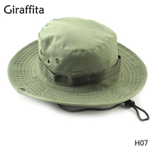 Giraffita hot Sale Freeshipping Casual Unisex Outdoor fisherman hat Climbing fishing camouflage bunny hat Jungle round edge cap