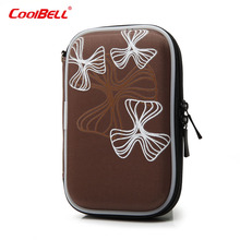 Case for external hdd printing portable hard disk case for 2.5 inch SATA HDD Mobile Hard Drive Storage Bag Case(China)
