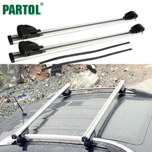"Partol 48"" Universal Car Roof Rack Cross Bars Crossbars With Anti-theft 75kg/165LBS Luggage Top Carrier Fit Auto w Vertical Bar(China)"