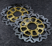 Front Rotor Brake Disks For Kawasaki Ninja ZX10R 2008-2012 GTR 1400 ZZR 1400 Golden(China)