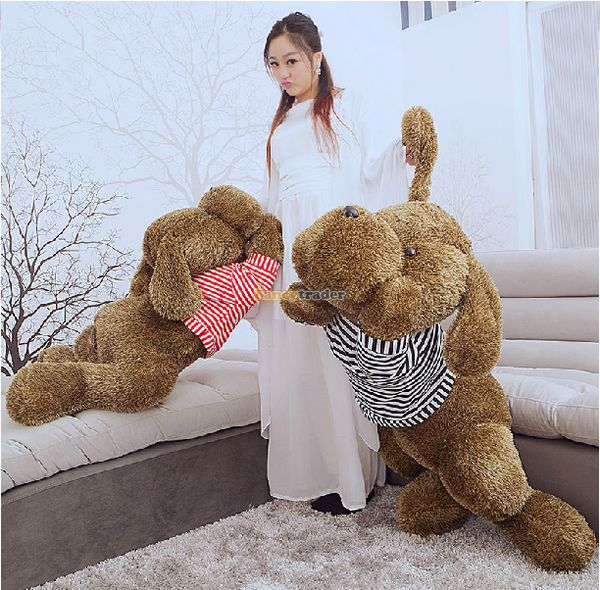 Fancytrader 1 pc 47 / 120cm Giant Big Stuffed Soft Plush Giant Lying Dog Toy, 2 Colors Available, Free Shipping FT50738<br><br>Aliexpress