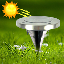 Solar Powered 3 Led Waterproof Buried Light solar landscape Lighting Underground Light lamp Outdoor Solar lamp Garden decoration