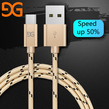 GUSGU Nylon USB Type C Cable Xiaomi Type-C Fast Charging Cable Samsung HUAWEI HTC Date Cable Nexus OnePlus LG Cables