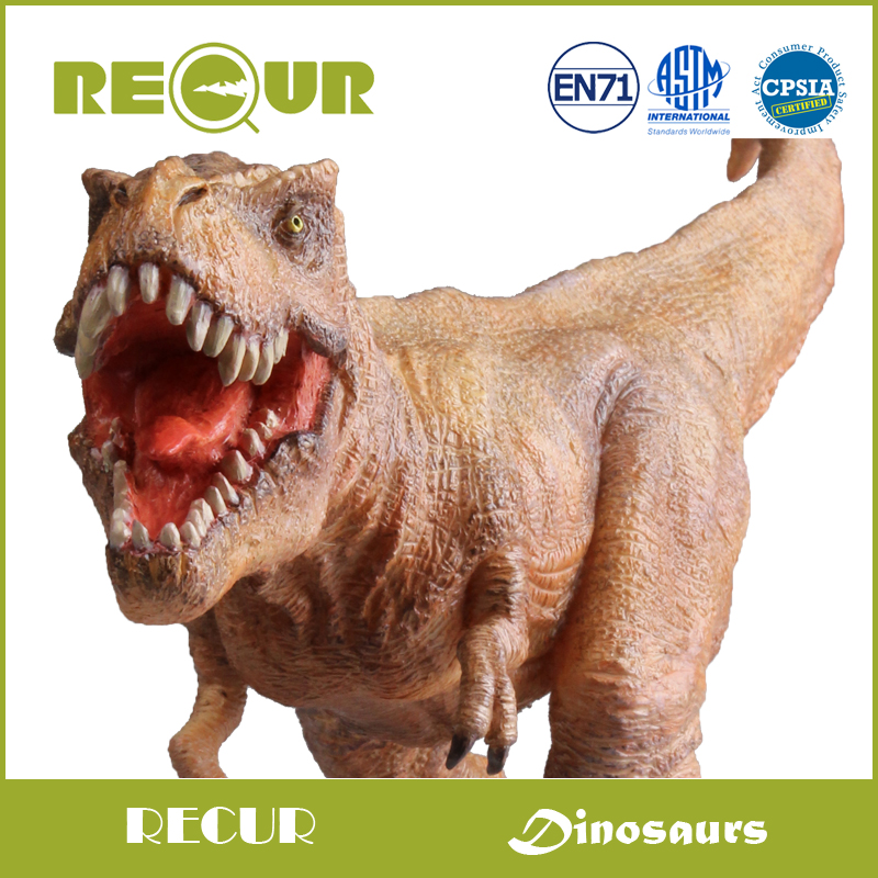Recur Jurassic Dinosaur figure Tyrannosaur T-rex Model Highly Detailed Hand Painted Plastic Animal Figures Soft Toys Collections<br>